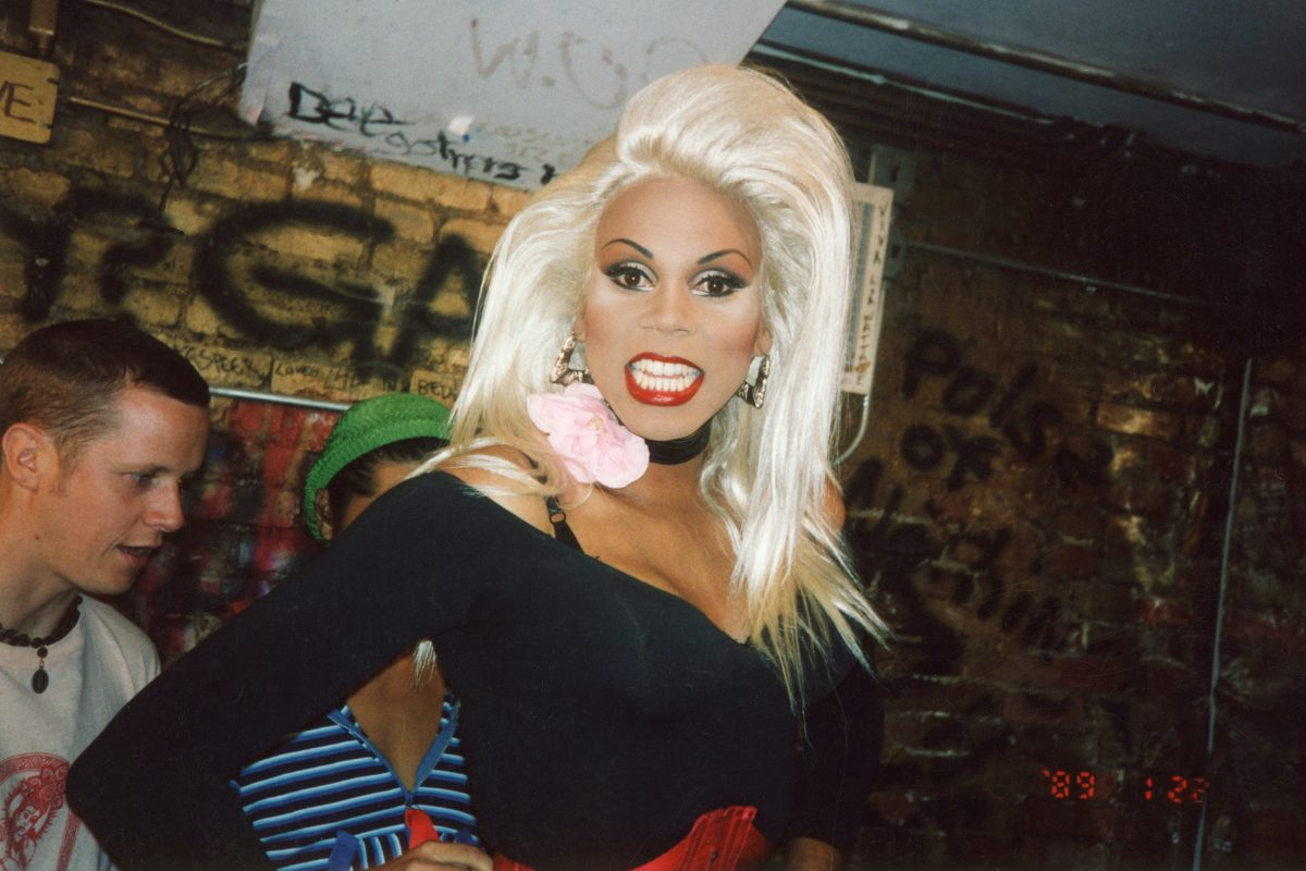 RuPaul in the Pyramid Club dressing room, 1992