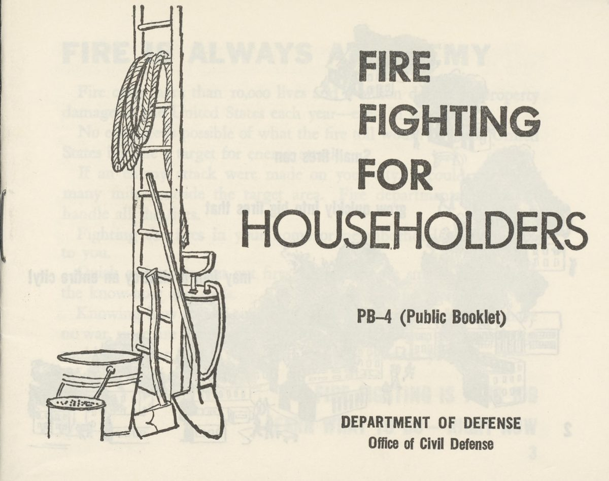 Fire Fighting for Householders 1961