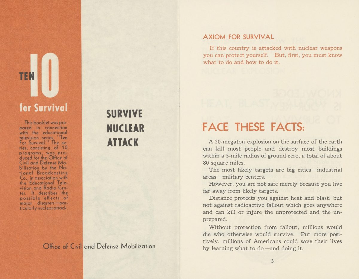 Ten for Survival: Survive Nuclear Attack ca. 1960