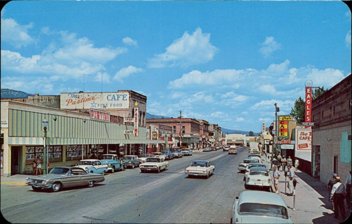 Standpoint, Idaho, USA, postcards, streets, vintage, cars
