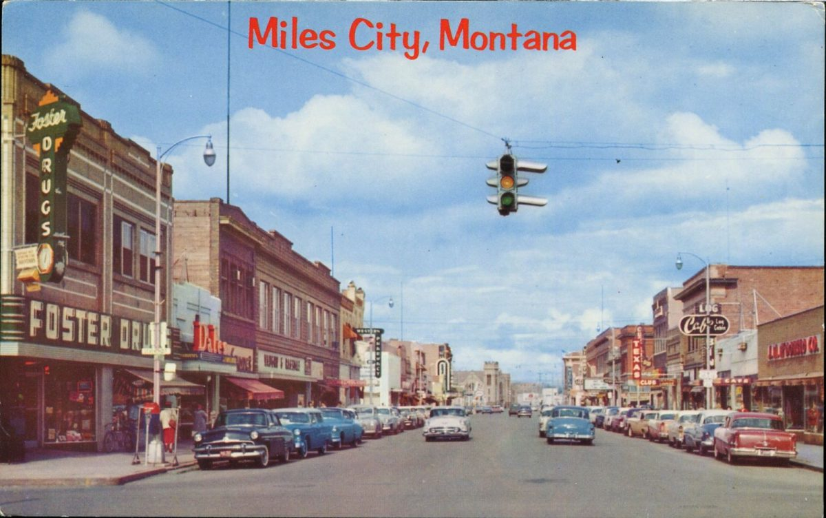 Miles City, Montana, USA, postcards, vintage