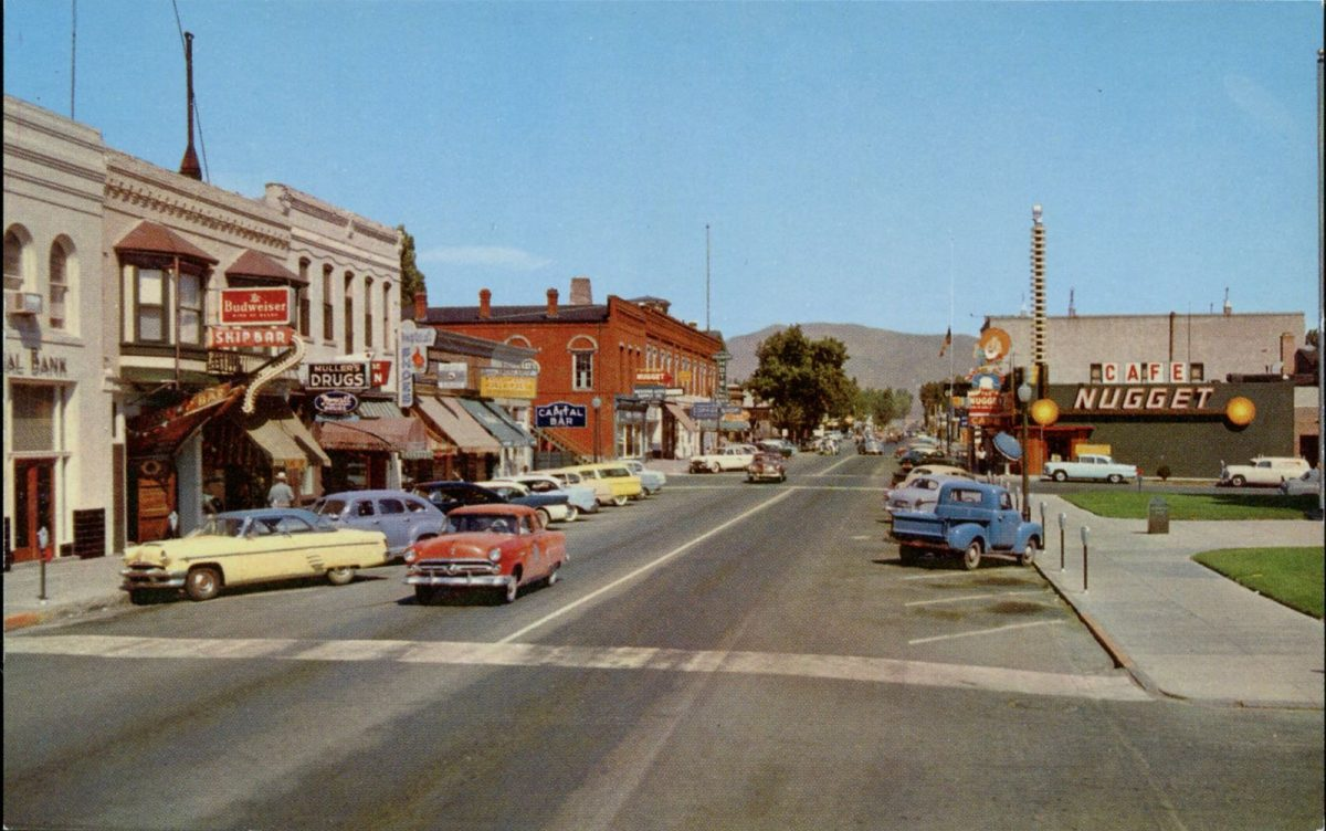 Carson City, Nevada, USA, postcards, vintage, streets, cars