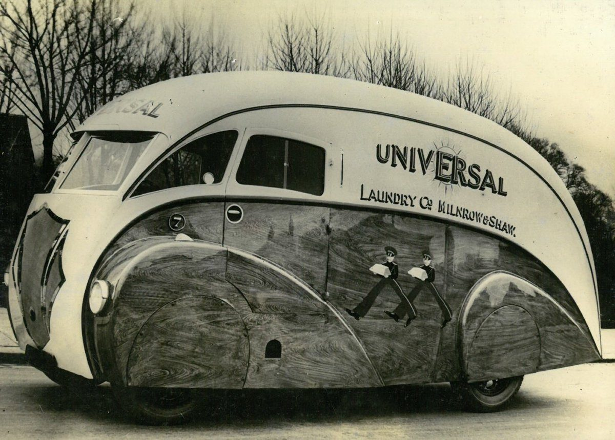 Gorgeous Art Deco Streamline Vans Made at Holland Coachcraft of ...