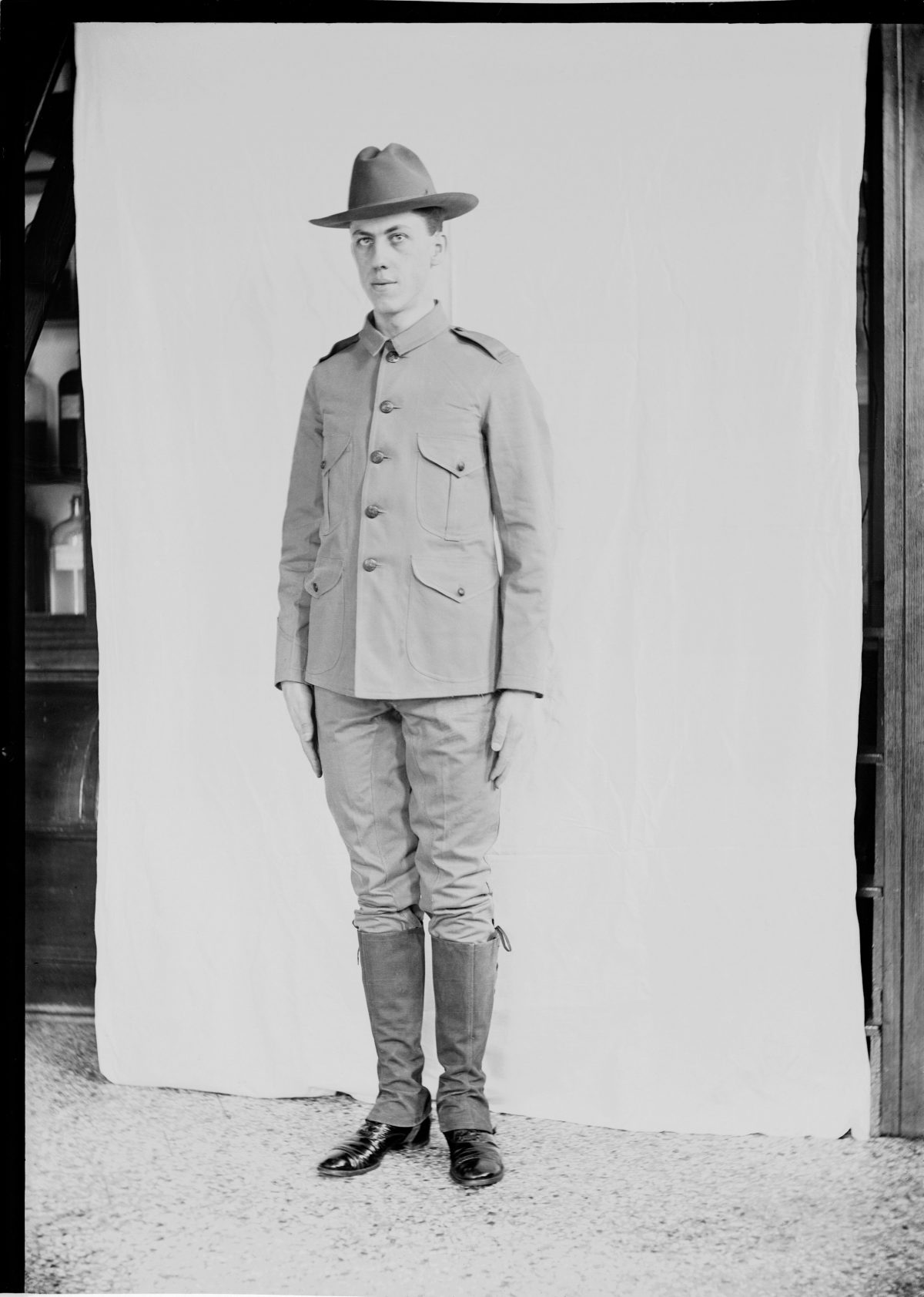 Portrait of George Silas Duntley in World War I UniformGeorge Silas Duntley Photographs 1899-1918