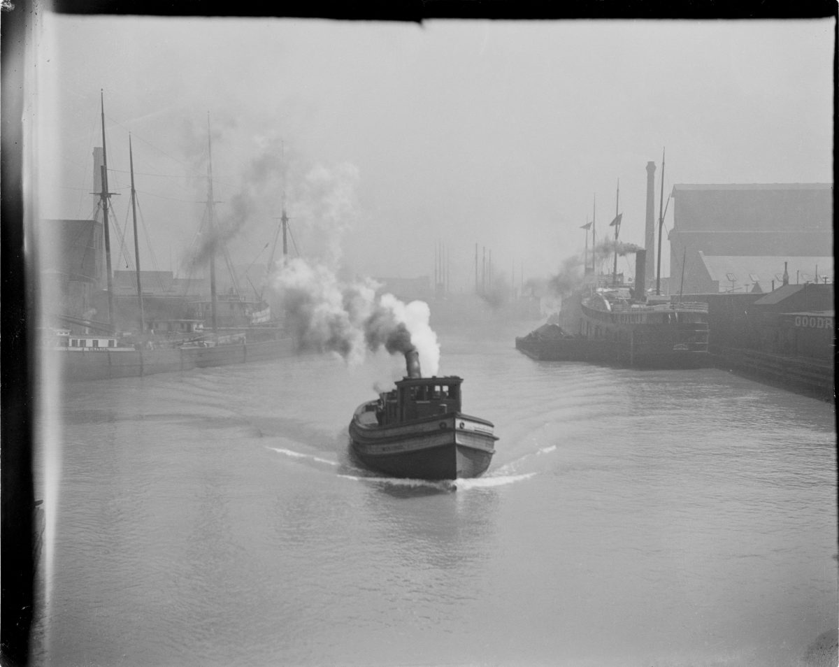 River scene with boats - George Silas Duntley Photographs 1899-1918