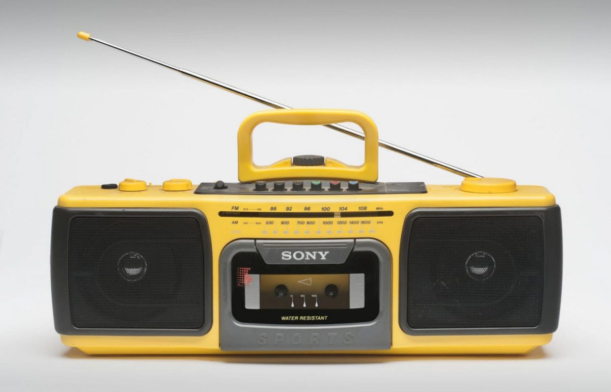 Sony CFS-920S Sports Portable Cassette Player, 1986.