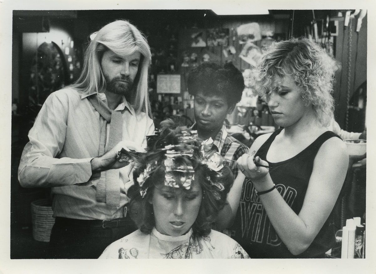 Snapshots from a Tampa Florida Hair salon in the 1980s