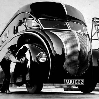 Gorgeous Art Deco Streamline Vans Made at Holland Coachcraft of Govan, Glasgow
