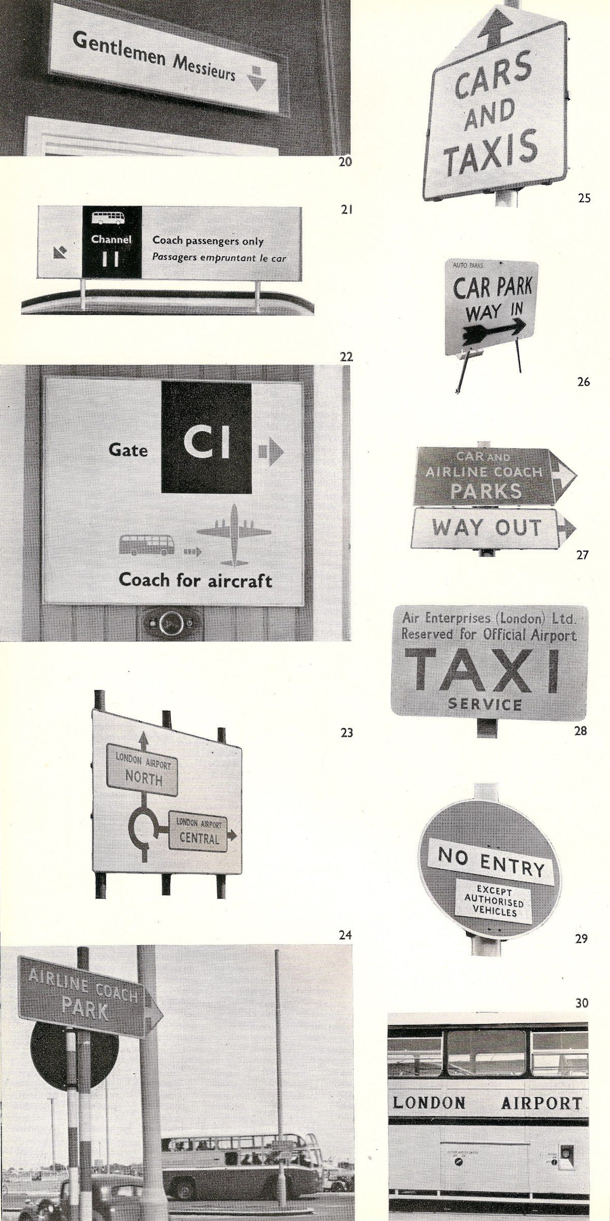 London Airport signs - 1955
