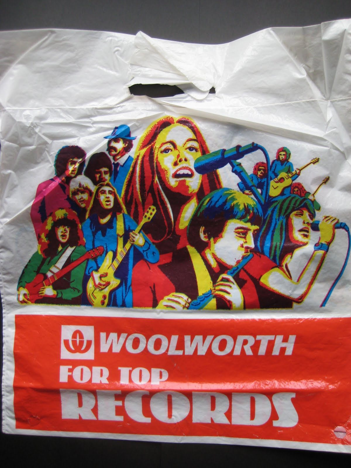 vintage record store bags