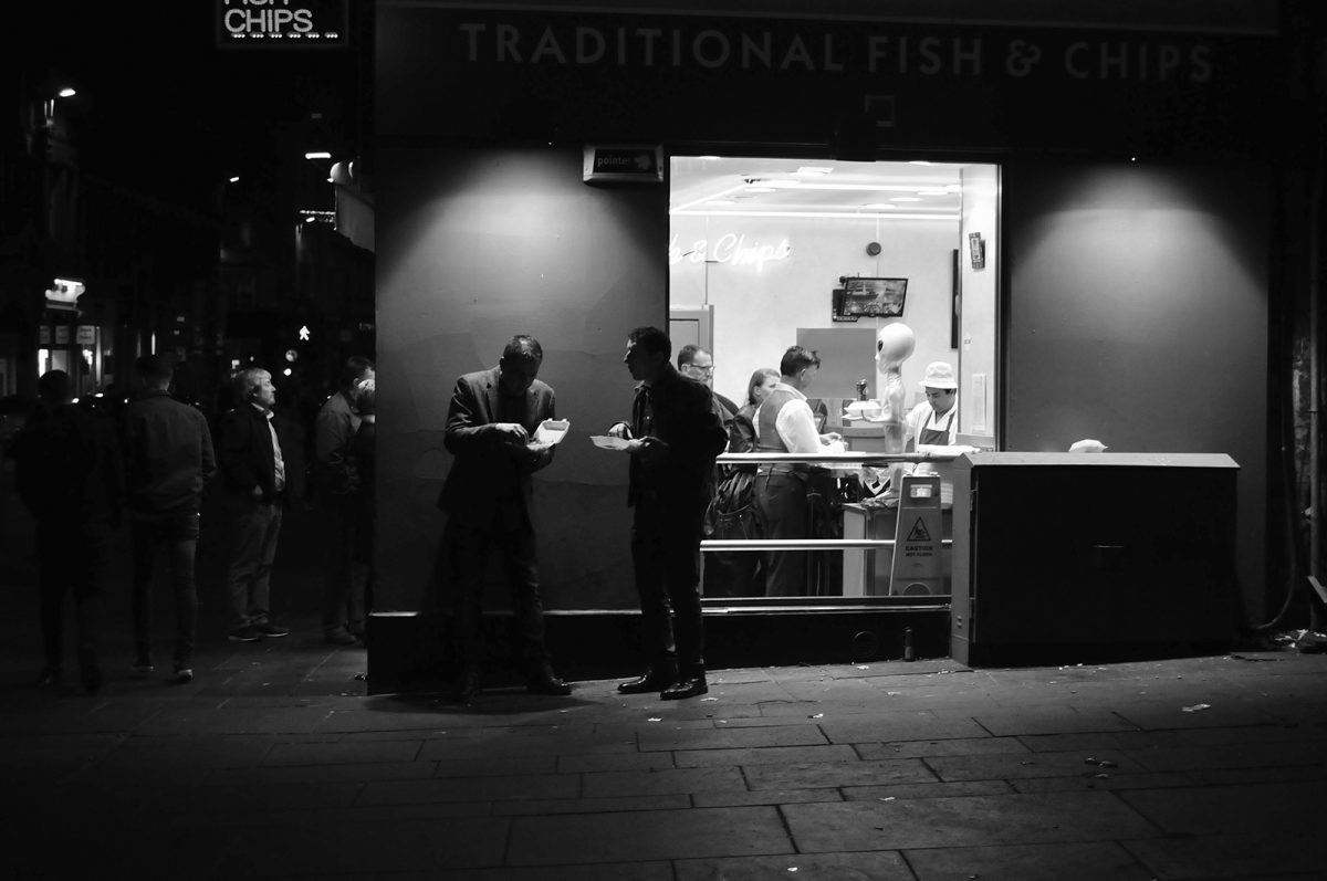 Brian Anderson, Glasgow, street photography, The Chippy