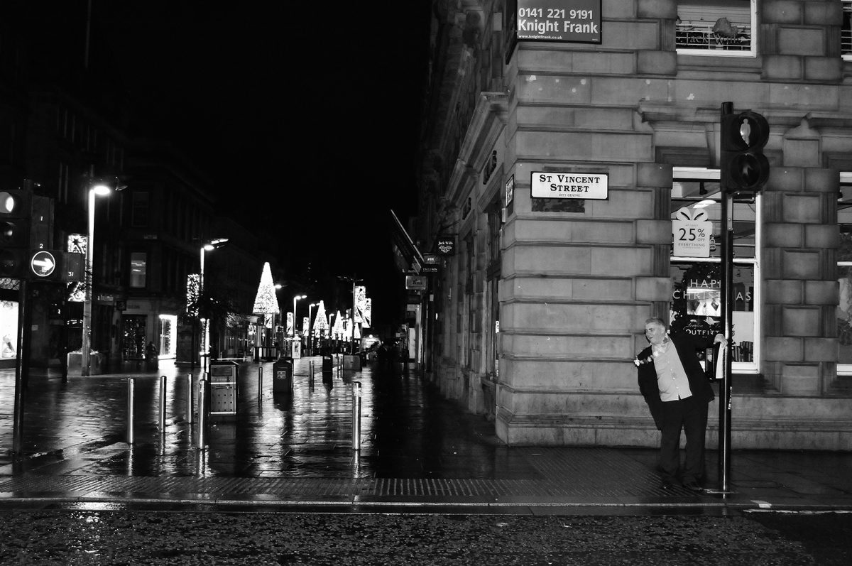 Brian Anderson, Glasgow, street photography, The Reveler