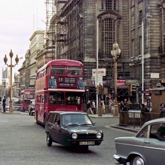 Snapshots of Cars On The Streets of London in the mid 1970s