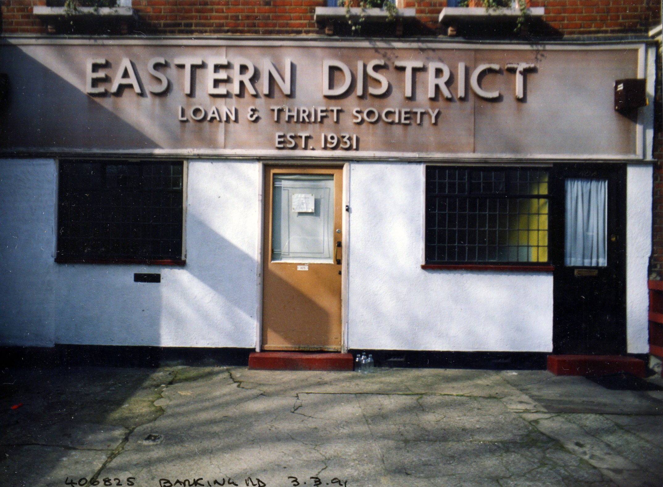 Eastern District, Loan & Thrift Society, Barking Rd, Plaistow, Newham, 1991