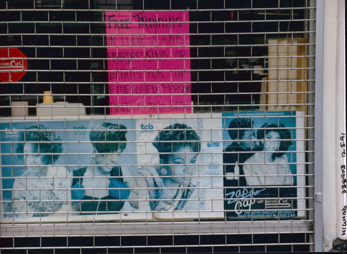 London Hairdresser, High Rd, Bruce Grove,Tottenham, Haringey, 1991