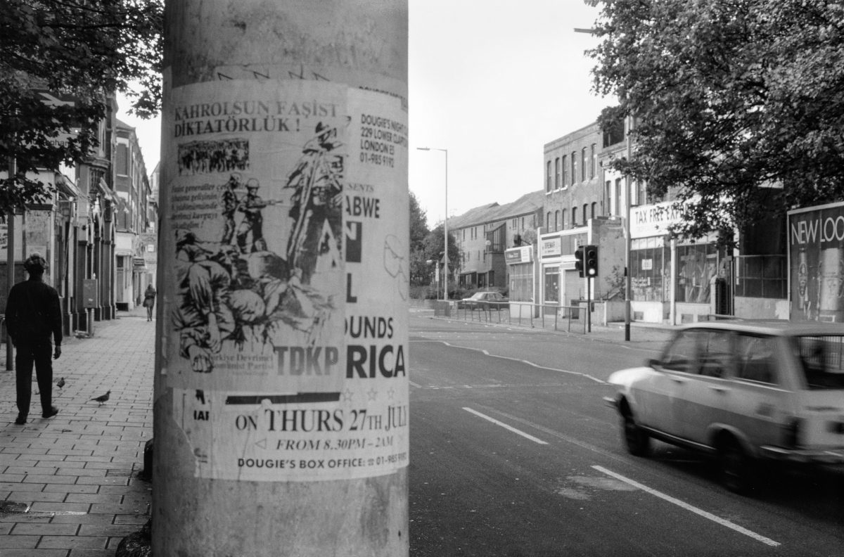 Posters, High Rd, South Tottenham, Haringey, 1989