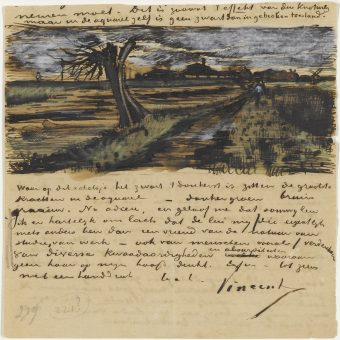Van Gogh's Sketches In Letters To His Brother and Friends