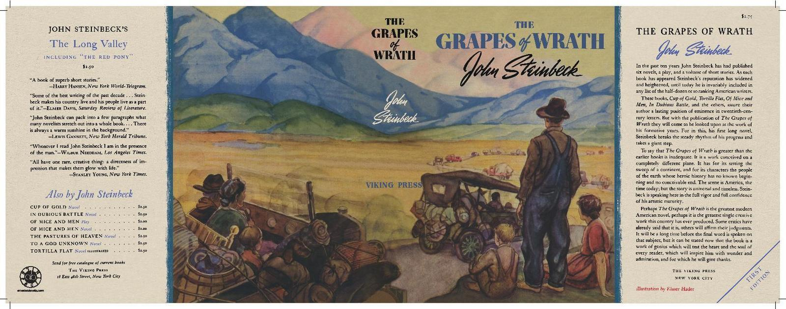The Grapes of Wrath First Edition