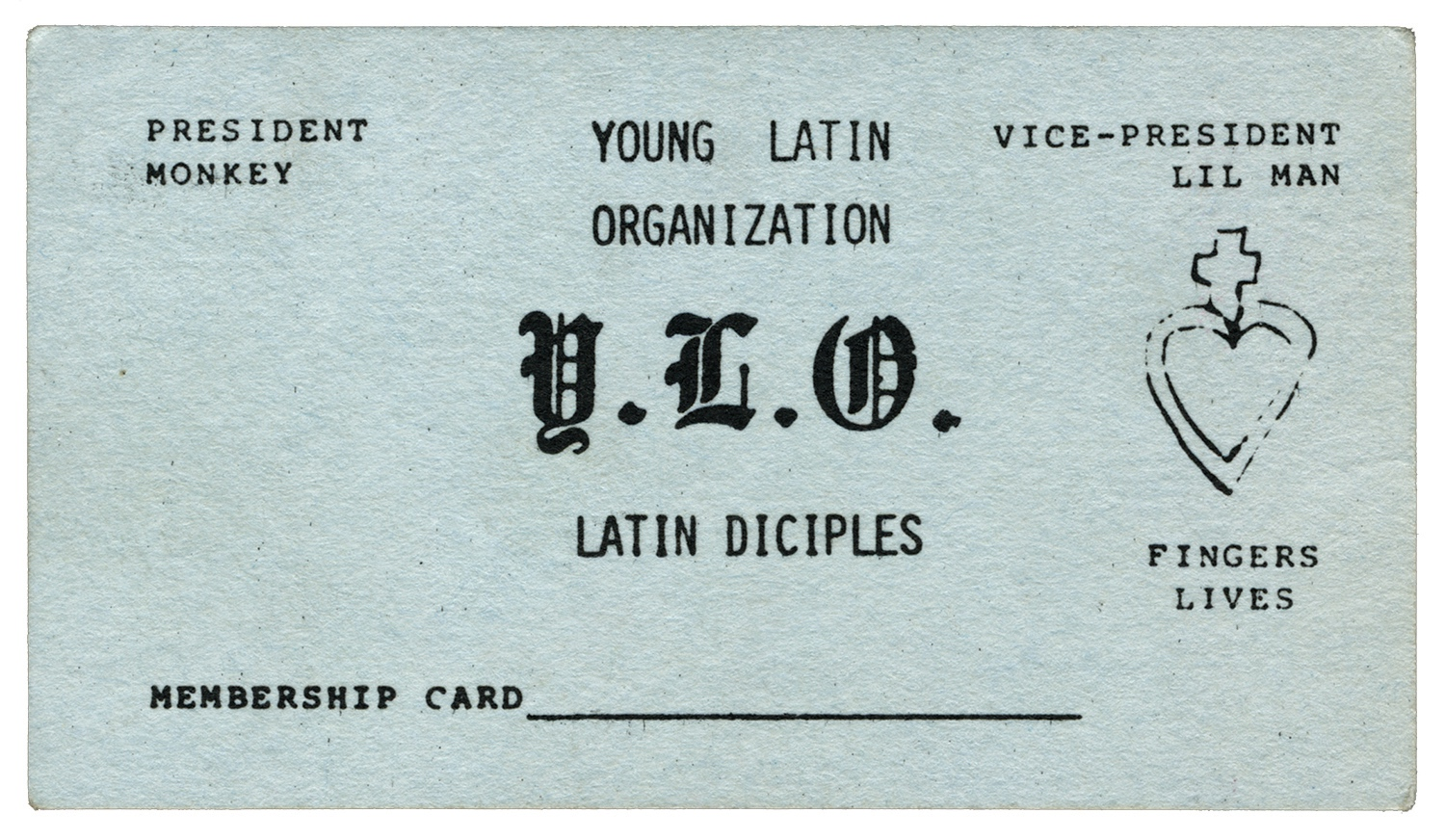 Chicago gang business cards