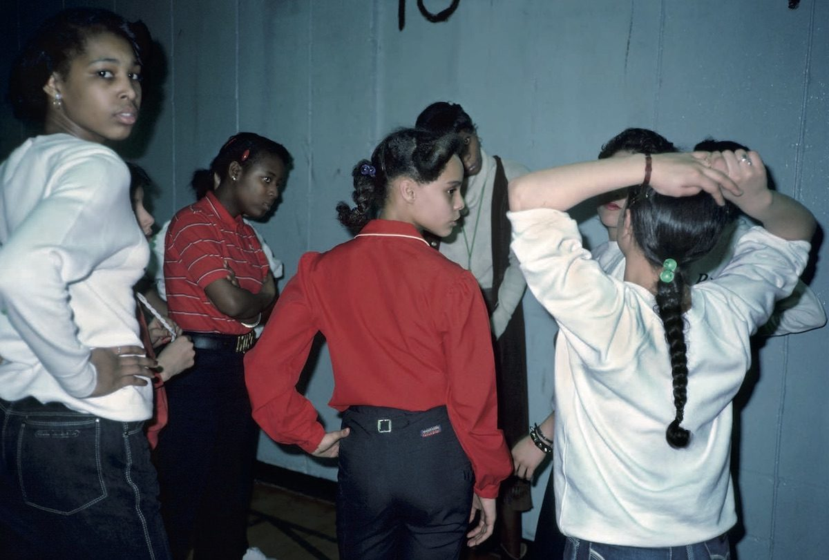 Discussion During Gym IS 291, Bushwick, Brooklyn, NY. June 1982