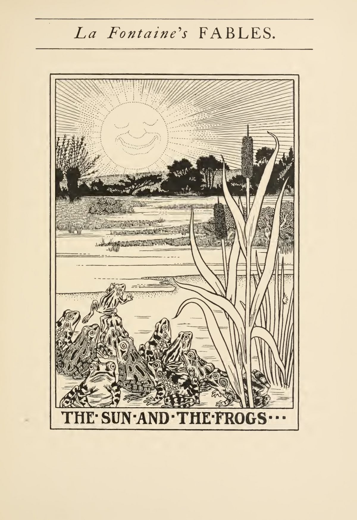 A Hundred Fables of La Fontaine by Jean La Fontaine (1621-1695) was illustrated by Percy J Billinghurst