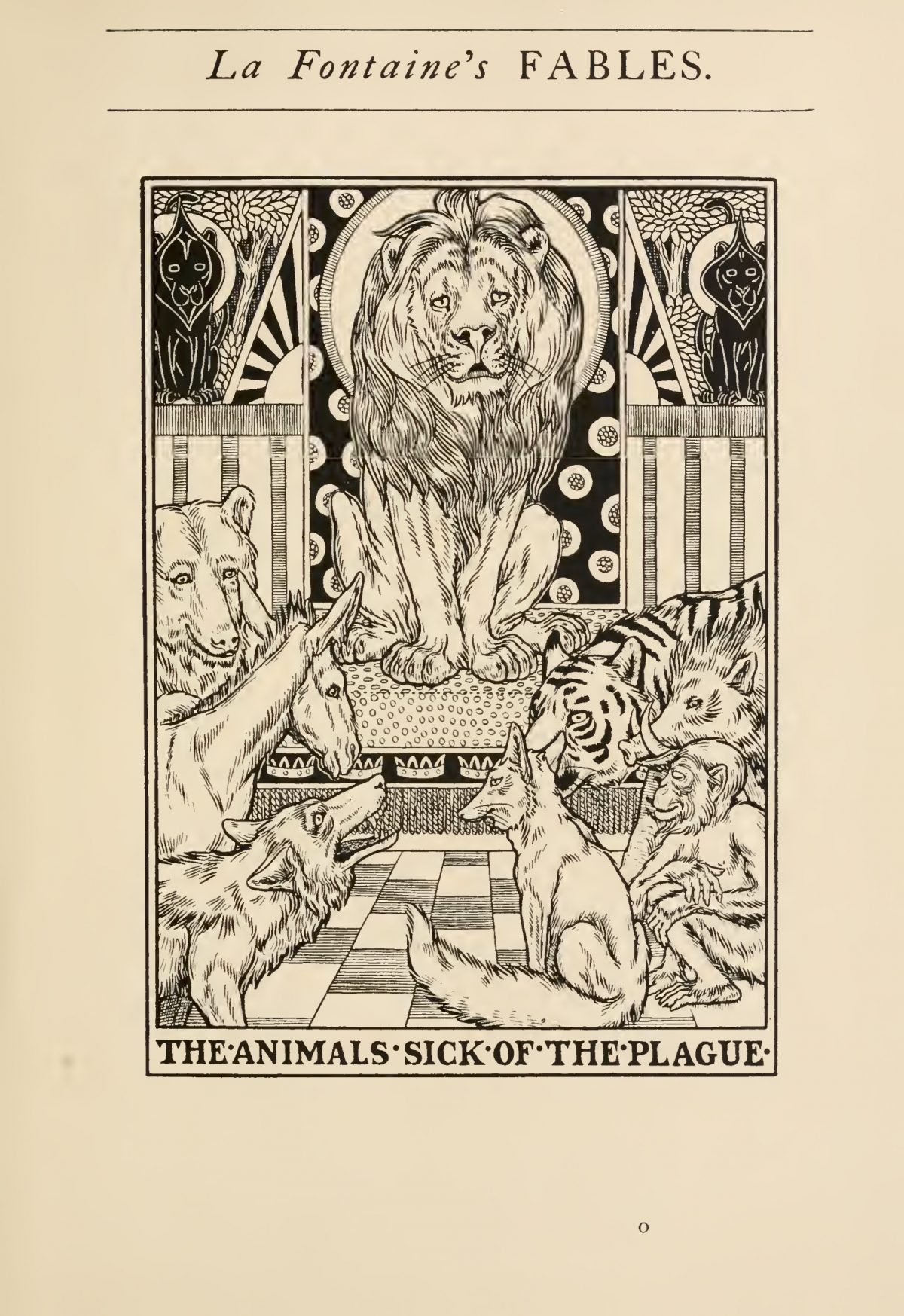 A picture by François Chauveau, illustrator of the original edition of the Fables