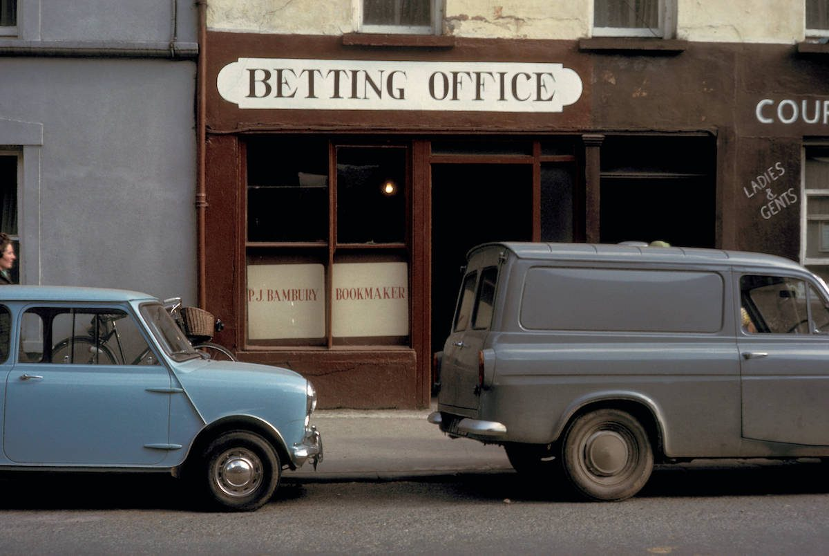 Dublin, private lottery betting office 1964