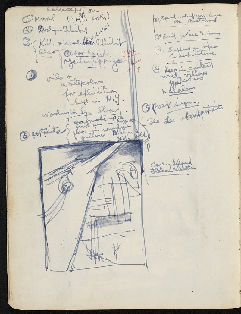 James Penney's New York Sketchbook, 1932. James Penney papers, 1913-1984. Archives of American Art, Smithsonian Institution.