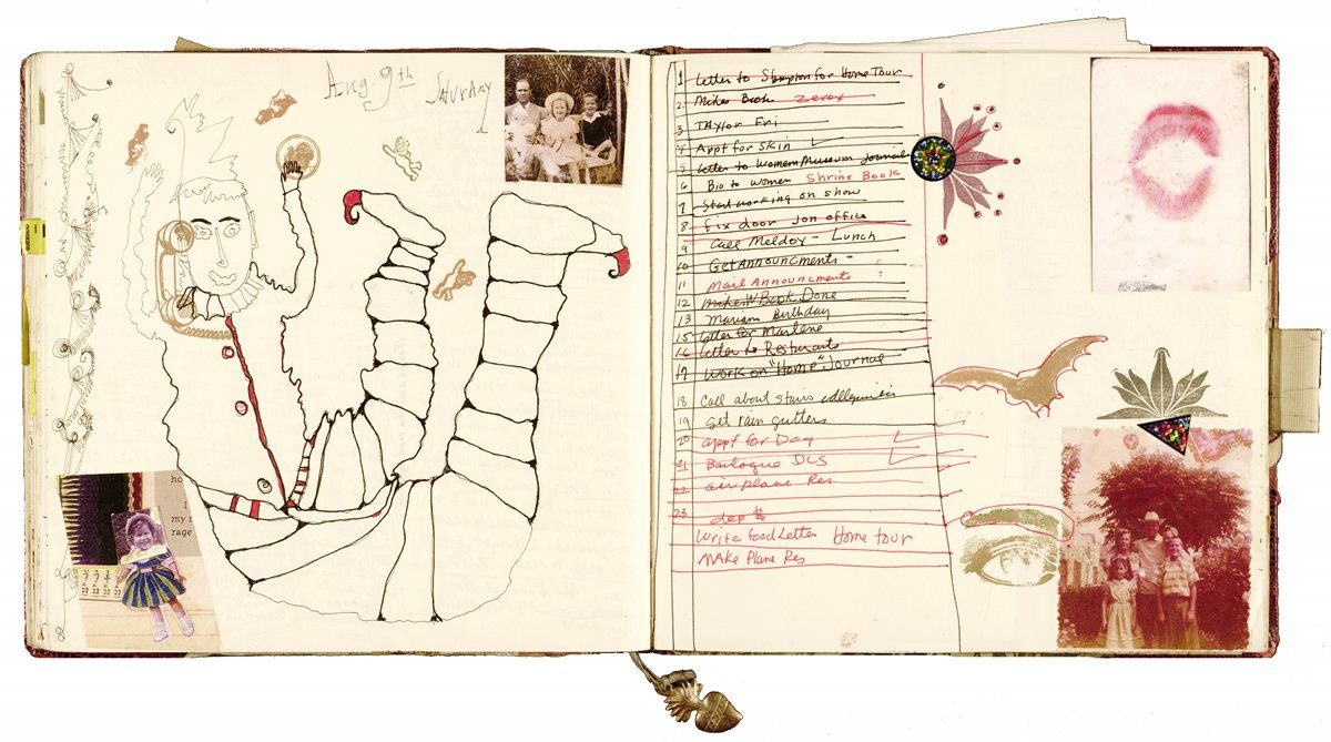 Janice Lowry, to-do list, August 9, 2003, journal no. 101. Janice Lowry papers, 1957–2008. Archives of American Art. Smithsonian Institution.