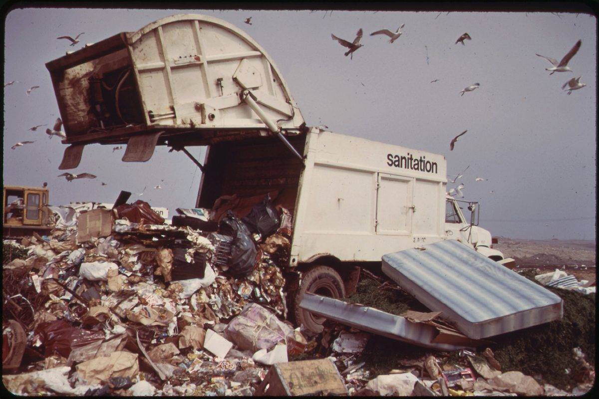 Landfill Operation Is Conducted by the City of New York on the Marshlands of Jamaica Bay. Pollution Hazards and Ecological Damage Have Called Out Strong Opposition 05_1973