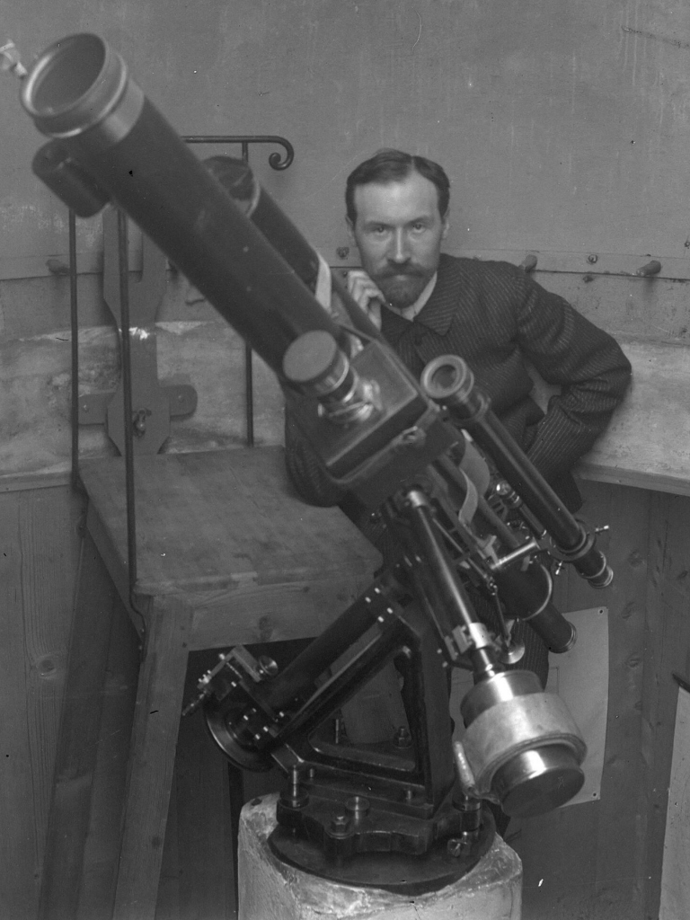 Lucien Rudaux in his small observatory, on July 1, 1903