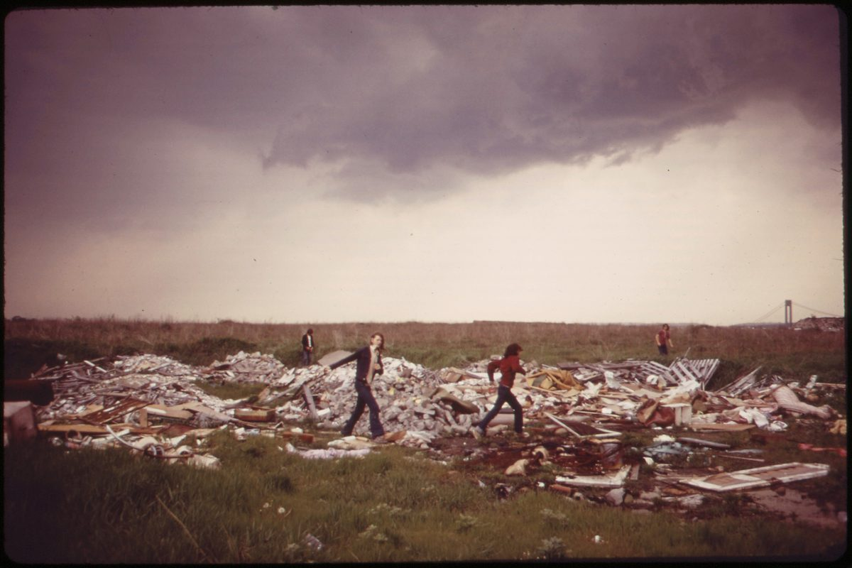 Municipal Incineration Plant and Landfill Dump at Gravesend Bay Serves as Playground for Neighborhood Boys 05_1973
