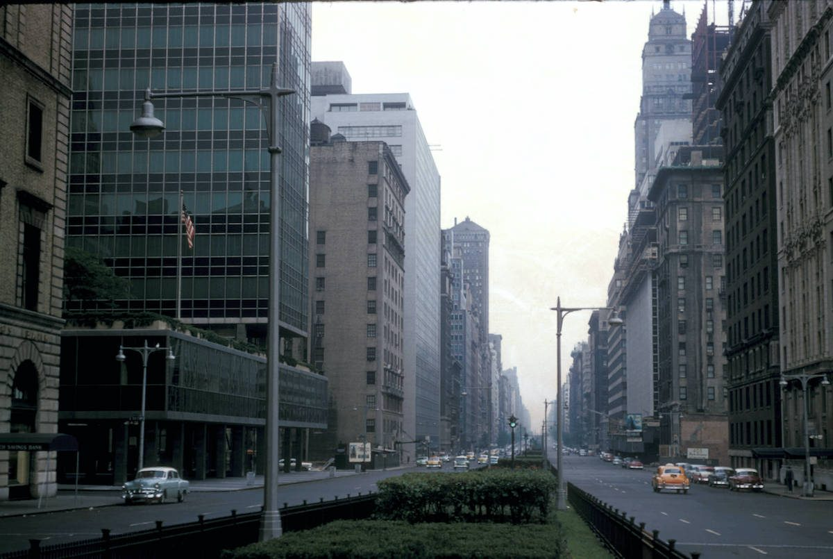 New York, Manhattan, view of Park Avenue north from 58th Street 56