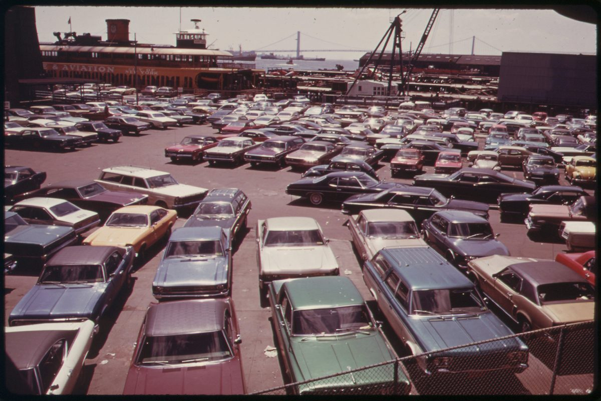 Parking Lot at Ferry Dock on Staten Island 05_1973