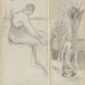 A Found Bookmark Illustrated by Van Gogh From 1883