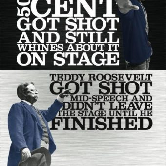 Hardcore History: Teddy Roosevelt Shoots 50 Cent To Pieces